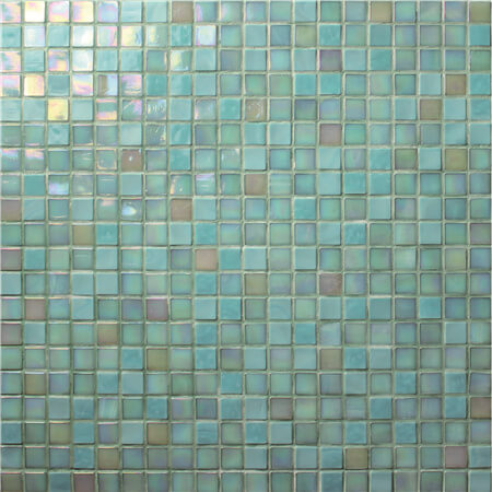 15x15mm green iridescent pool glass tiles BGC014.jpg
