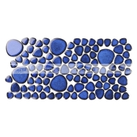 Border Pebble BCZG606A-Mosaic tile, Ceramic mosaic border, Border for swimming pool, Crystal glazed pebble border