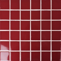 Classic Red Glossy BCK401-Mosaic tiles, Ceramic mosaic, Red mosaic tile, Red tile for pool