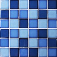 Fambe Blue Blend BCK012-Mosaic tile, Ceramic mosaic, Blue pool tiles, Crystal pool mosaic tiles