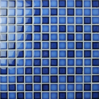 Fambe Blue Blend BCH004-Mosaic tile, Ceramic mosaic, Best mosaic tiles for pool, Pool tile manufacturer