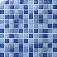 Blossom Blue Mix BCH002-Mosaic tiles, Ceramic mosaic, Pool mosaic, Pool tile wholesale