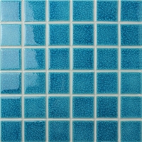 Frozen Blue Ice Crack BCK609-Mosaic tile, Ceramic mosaic, Crackle ceramic mosaic tile, Blue swimming pool tile