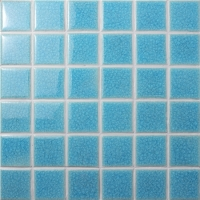 Frozen Blue Ice Crack BCK610-Mosaic tile, Ceramic mosaic, Ice crack pool mosaic, Swimming pool tile wholesale