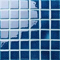 Frozen Blue Heavy Crackle BCK650-Mosaic tile, Ceramic mosaic, Pool mosaic for sale, Blue swimming pool tiles