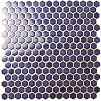 Hexagon Dark Blue BCZ606-Mosaic tile, Ceramic mosaic, Hexagon tile, Porcelain hexagon tile