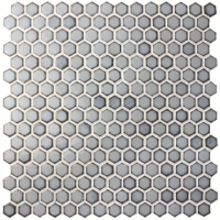 Hexagonal Preminum Blue BCZ705-Pool tile, Pool mosaic, Ceramic mosaic, Hexagonal mosaic tile