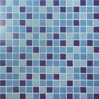 Square Blue Mixed BGE015-Pool tiles, Pool mosaic, Glass mosaic, Glass mosaic for bathroom