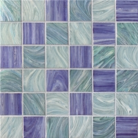 Iridescent Square BGK001-Pool tiles, Pool mosaic, Glass mosaic, Glass mosaic pieces