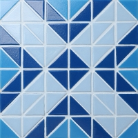 Santorini Square TRG-SA-SQ1-Pool Tile, Triangle Tile, Swimming Pool Tile Art