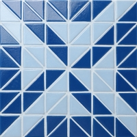 Santorini Windmill TRG-SA-WM-Pool Tile, Triangle Tile, 2 Inch Pool Tiles