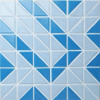 Santorini Puzzle TRG-SA-PZ-Pool Tile, Triangle Tile, Pool Tile Designs