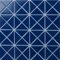 Santorini Pure-Color TRG-SA-P3-Pool Tile, Triangle Tile, Swimming Pool Glass Tile Design