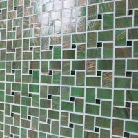 Luxury Mossy Green Windmill BGZ017-Mosaic tile, Glass mosaic, Green glass mosaic for pool, Pool mosaic tiles supplies