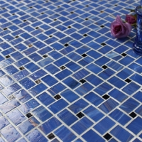 Luxury Blue Windmill BGZ016-Mosaic tile, Glass mosaic, Pool glass mosaic tiles, Blue windmill glass mosaic tiles