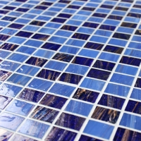 Luxury Dark Blue Gold Line BGZ015-Mosaic tile, Glass mosaic, Pool mosaic tiles, Beautiful glass mosaic wholesale