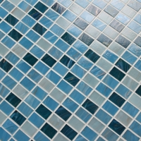 Luxury Blue Mix Gold Line BGZ013-Mosaic tile, Glass mosaic, Swimming pool mosaic tile, Glass mosaic wall tiles