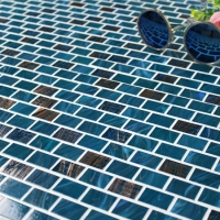Luxury Blue Blend Gold Line BGZ020-Mosaic tile, Glass mosaic, Glass mosaic pool, Glass mosaic tile manufacturer