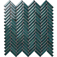 Strip Dark Green BCZ919A-Strip mosaic, Strip mosaic tiles, Strip mosaic backsplash