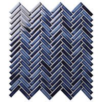 Strip Dark Blue BCZ619A-Herringbone mosaic, Herringbone mosaic tile, Herringbone mosaic wall tiles