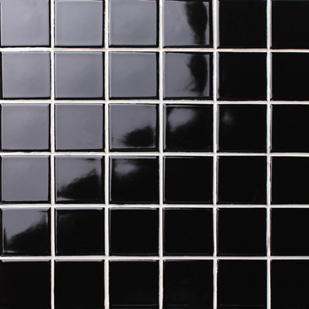 Classic Black Glossy BCK102,Mosaic tile, Ceramic mosaic, Black tile for wall, Black mosaic backsplash