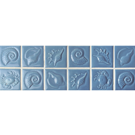 Blue Seashell Pattern BCKB702,Border tile, Ceramic border tile, Decorative border tile, Border tile for kitchen wall