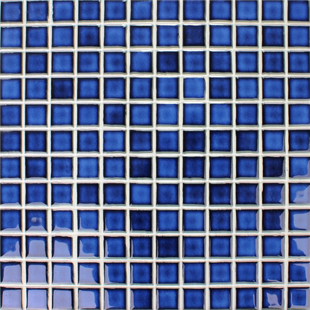 Fambe Blue Blend BCH612,Mosaic tile, Square ceramic mosaic, China ceramic mosaic tile, Swimming pool tile blue