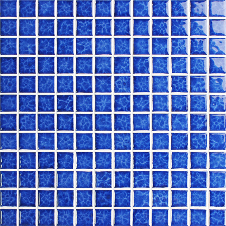 Blossom Blue BCH611,Mosaic tiles, Ceramic mosaic for pool, Square Pool tiles, Crystal ceramic mosaic tiles