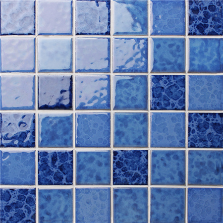 Blossom Blue BCK009,Mosaic tile, Ceramic mosaic, Pool tile mosaics, Crystal Glazed Blue Swimmiing pool tile