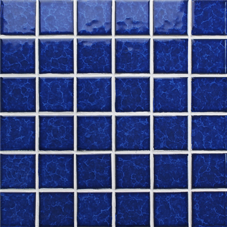 Blossom Dark Blue BCK638,Mosaic tiles, Ceramic mosaic, Dark blue pool tiles