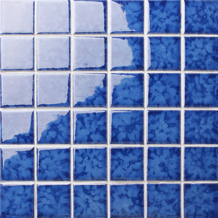 Blossom Dark Blue BCK642,Pool tiles, Ceramic mosaic, Blue pool mosaic tiles