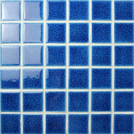 Frozen Dark Blue Heavy Crackle BCK608,Mosaic tile, Ceramic mosaic, Dark blue swimming pool tiles, Beautiful pool tiles