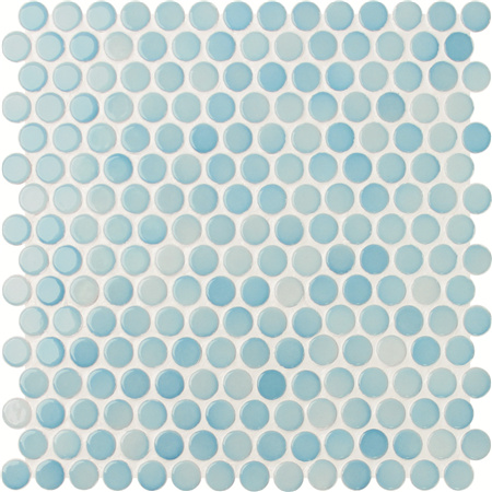 Penny Round Blue BCZ003,Mosaic tiles, Ceramic mosaic, Round mosaic tile patterns