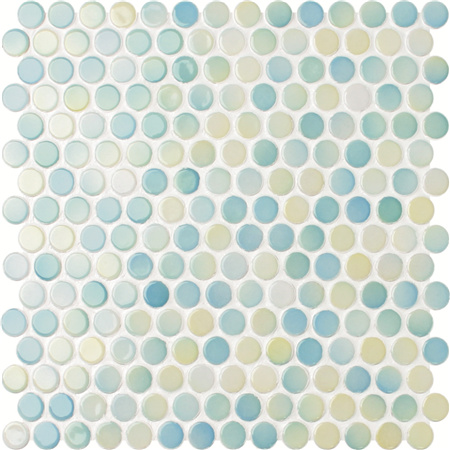 Penny Round Blue Blend BCZ002,Mosaic tiles, Ceramic mosaic tiles, Penny round mosaic suppliers