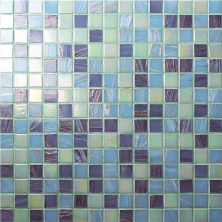 蓝色马赛克砖_豪华蓝色混合金线BGE009, 游泳池瓷砖,玻璃马赛克,玻璃马赛克地砖 ...