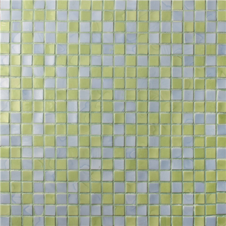 Square Yellow Blended BGC017,Pool tiles, Pool mosaic, Glass mosaic, Glass mosaic sheets