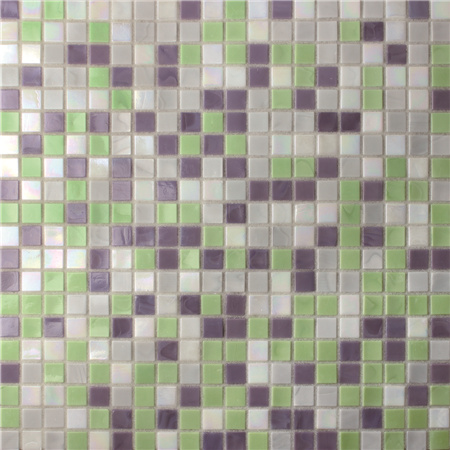 Square Purple Mix Green BGC020,Pool tile, Pool mosaic, Glass mosaic, Glass mosaic tile discount