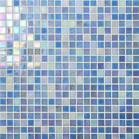 Rainbow Iridescent Blue BGC003,Mosaic tile, Glass mosaic, Glass mosaic wall art, Glass mosaic pool tile