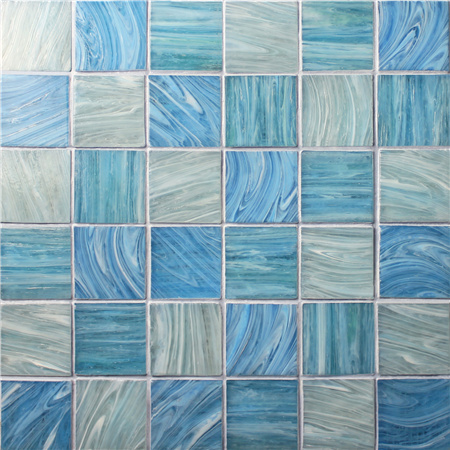 Iridescent Square BGK003,Pool tile, Pool mosaic, Glass mosaic, Glass mosaic tile backsplash