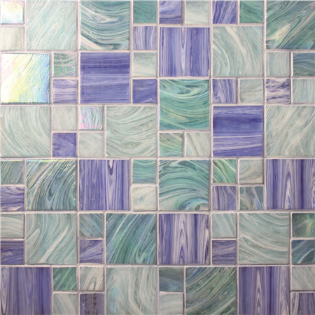 Square Mixed BGZ001,Pool tile, Pool mosaics, Glass mosaic, Hot melt glass mosaic tile
