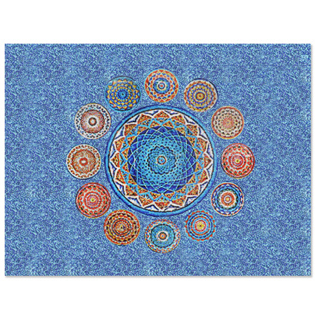 Mandalas KZO040MY,pool tile art, mosaic pool art, swimming pool mosaic art, glass mosaic pool tiles