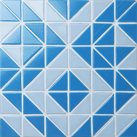 Santorini Wheel TRG-SA-WH,Pool Tile, Triangle Tile, Swimming Pool Tile Blue