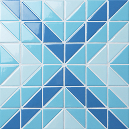 Santorini Square TR-SA-SQ,Triangle mosaic, Triangle mosaic tile, Triangle mosaic pattern, Pool mosaic tiles