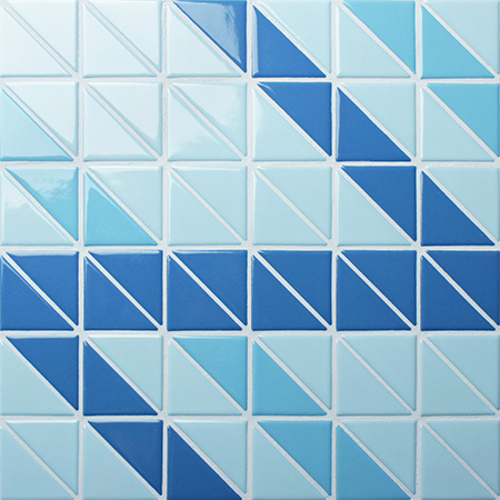 Santorini Ribbon TR-SA-R,Triangle mosaic, Triangle mosaic tile, Triangle mosaic pieces, Pool mosaic tiles