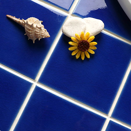 Frozen Blue Crackle BCQ604,Mosaic tile, pool tiles, pool mosaics