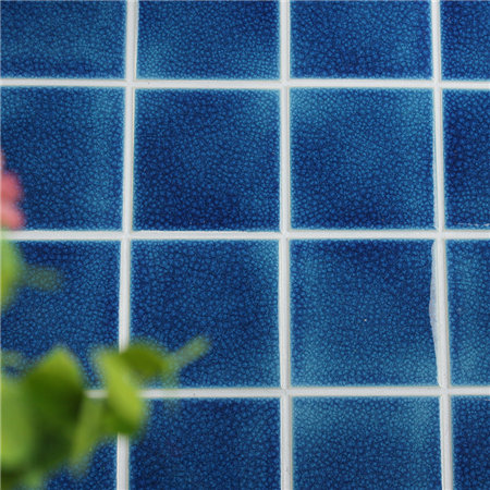 Frozen Navy Heavy Crackle BCQ606,Mosaic tile, ceramic pool tiles, pool mosaic tiles