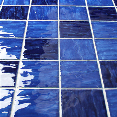 Wave Blue Blend BCP001,Mosaic tile, Ceramic mosaic tiles, Wave swimming pool mosaic tiles, Mosaic tiles from China