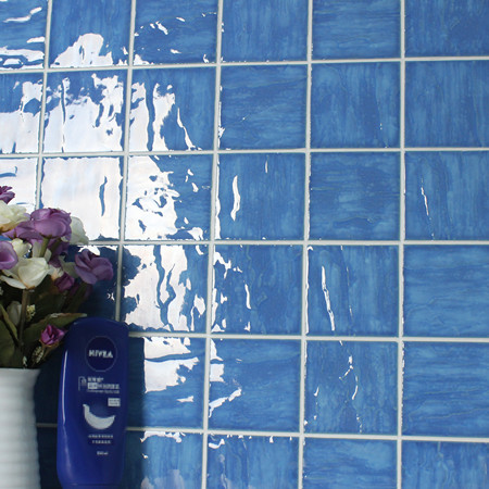 Wave Light Blue BCP602,Mosaic tile, Ceramic mosaic, Wave surface pool tiles, Best pool mosaic prices