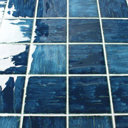 Wave-Like Blue BCP005,Mosaic tile, Ceramic mosaic tiles, Blue water pool mosaics, Mosaic pool China Supplier