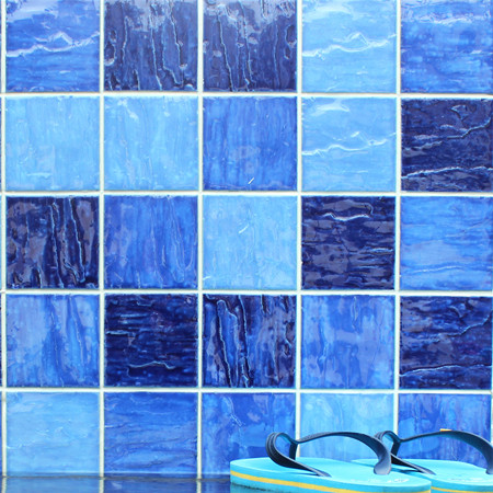 Wave Mixed Blue BCP003,Mosaic Tile, Ceramic Mosaic, Blue pool tiles, Wave Porcelain Pool Mosaic Tiles